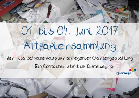 Ankündigung: Altpapiersammlung im Juni_Schwabenhaus
