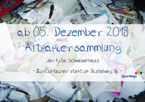 Schwabenhaus_Altpapiersammlung im Dezember