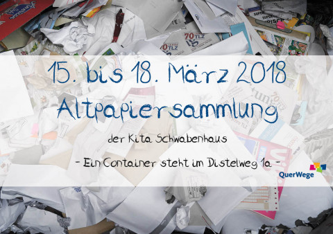 Ankündigung: Altpapiersammlung vom 15.- 18. März