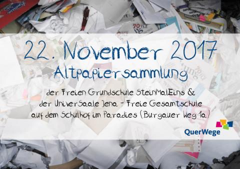 Ankündigung: Altpapiersammlung vom 22. November