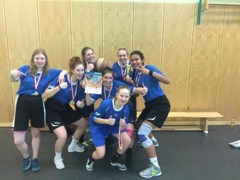 Die Gewinnerinnen des Basketball-Schulamtsfinale 2018