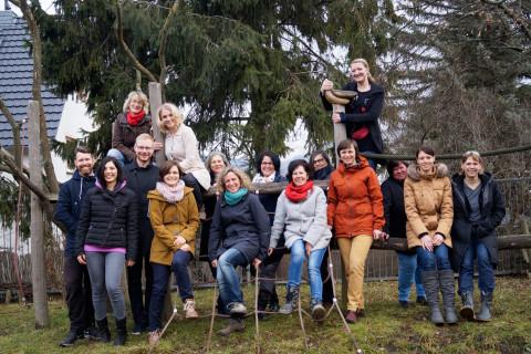 Das Team der Kita Schwabenhaus im Februar 2017