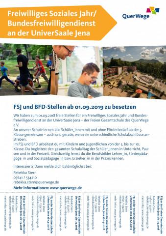 FSJ/BFD-Stellenausschreibung