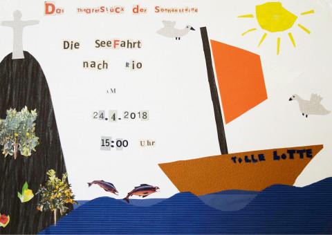 """Plakat zum Stück """"Die Seefahrt nach Rio"""" von den Sonnensteinen"""