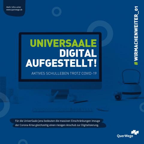 UniverSaale digital aufgestellt