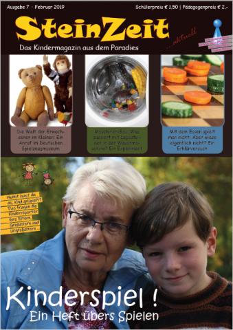 Kinderspiel - so heitßt die neue SteinZeit, das Kindermagazin der SteinMalEins der Reporter AG Paradies