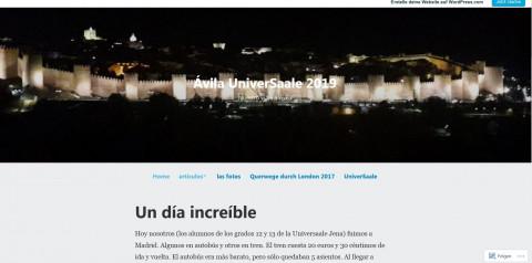 Ansicht des Spanienblogs