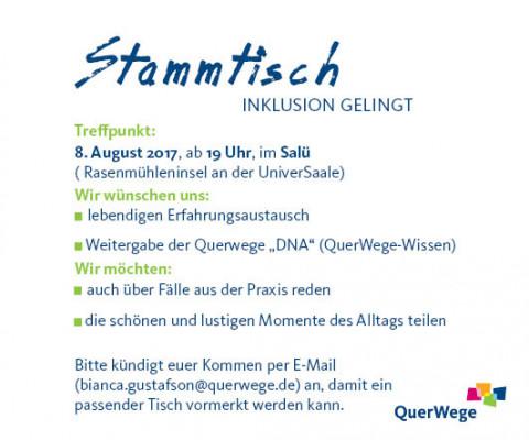 Stammtisch INKLUSION GELINGT_Einladung