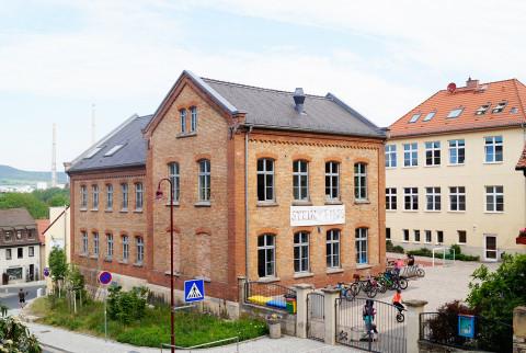 Der Schulhof in Lobeda
