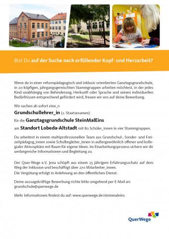 SteinmalEins_ Grundschullehrer_in_Lobeda 05_2018_Schulalltag