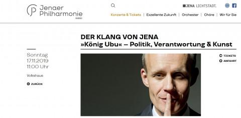 """Der Klang von Jena: """"König Ubu"""""""