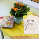 Vorlesewettbewerb der Grundschule 2018: Bücher und Urkunde