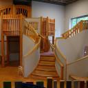 Der Rollenspielraum mit Küchenbereich, Einkaufsmarkt und Puppenecke