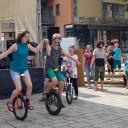 Tag der Vielfalt 2017_ Einradfahrer der Zirkus AG