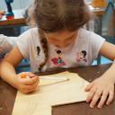 Wackelzahn_Kunstwoche unserer drei QuerWege-Kita's_aus der Holzwerkstatt_Entwurf eine Einhorns