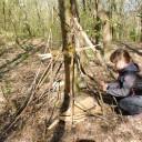 """Waldprojekttage in Lobeda_Projektgruppe """"Im Reich der Trolle"""" im Wald"""