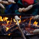 Lagerfeuer mit den Feuerfischen im Schwabenhaus