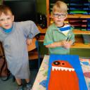 Wackelzahn_Kunstwoche unserer drei QuerWege-Kita's_Gruppe der Malerei_böse Monster