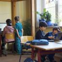 Waldprojekttage in Lobeda_Die Pressegruppe bei der Arbeit