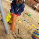 Sandkasten im Garten der Kita BiLLY