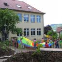 Schulgartenbereich am Standort Lobeda.