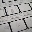 Medienprojekt BenX: Ein gezeichnetes Storyboard