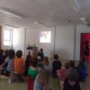 SteinMalEins Paradies_Trickfilmvorführung beim Sommerfest