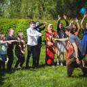UniverSaale_SteinMalEins_Bunte Kooperation beider Schulen für eine tolle Zirkusshow_Einstimmung mit Angel